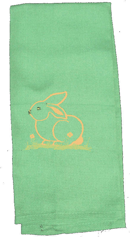 Kitchen Towel Bunny A Pattern