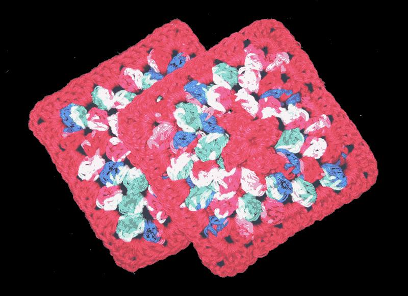 Multi-Coral Hot Pad Set