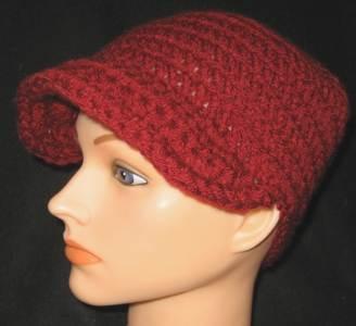 Maroon Newsboy Hat