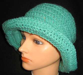 Floppy-aqua Bucket Hat