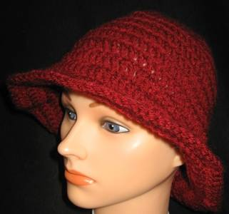 Floppy-maroon Bucket Hat