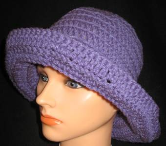 Floppy-purple Bucket Hat