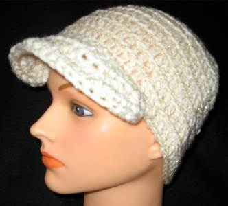 Newsboy Cap - White Sparkle