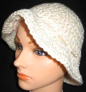 Floppy-white-sparkle Bucket Hat